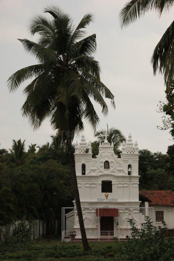La vecchia chiesa di Goa; L'India fotografia stock