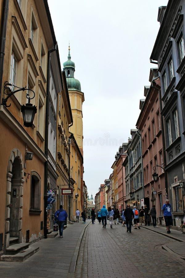 La vecchia città di Varsavia fotografie stock libere da diritti