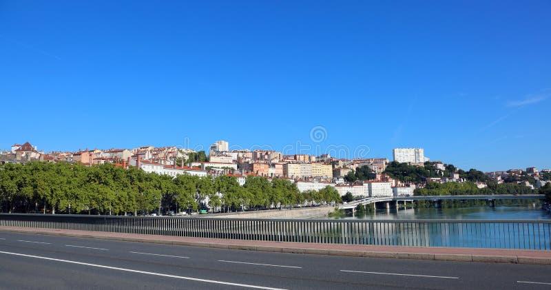 La vecchia città ha chiamato Vieux Lione in Francia fotografie stock libere da diritti