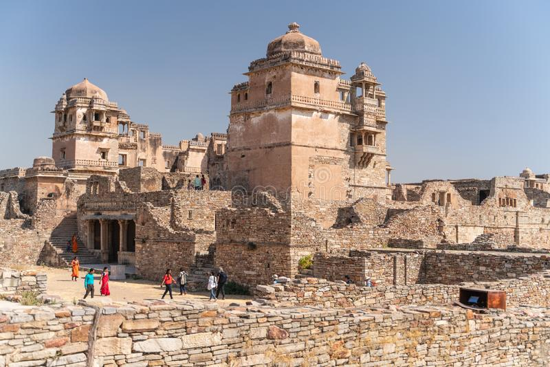 La vecchia fortificazione del chitargarh in India fotografia stock