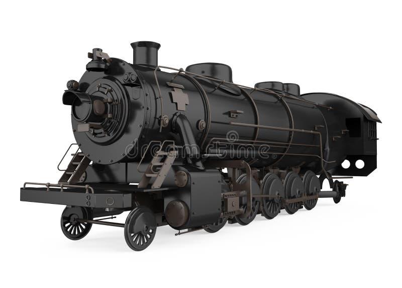 La vecchia locomotiva di vapore ha isolato royalty illustrazione gratis