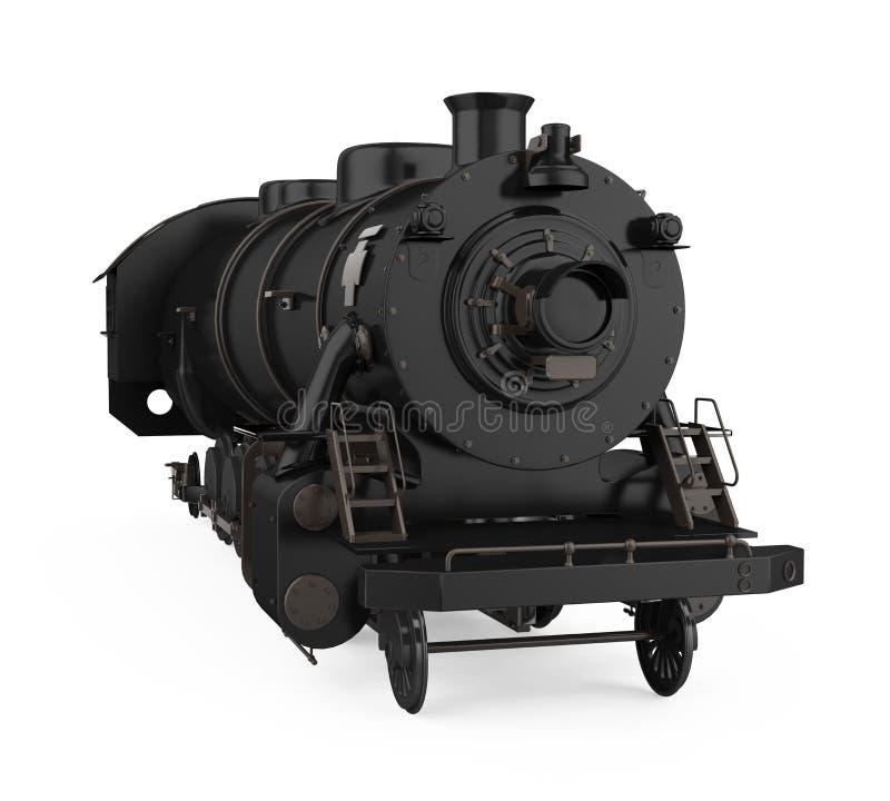La vecchia locomotiva di vapore ha isolato illustrazione vettoriale
