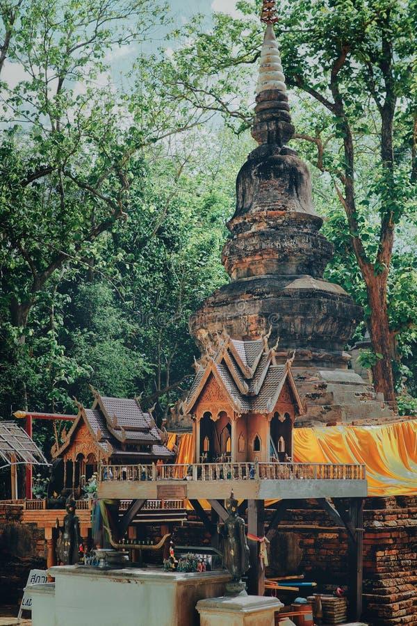 La vecchia pagoda in tempio immagine stock libera da diritti