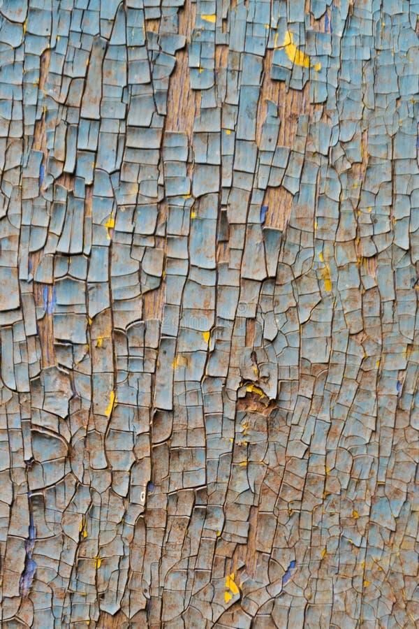 La vecchia parete di legno arrugginita ha dipinto blu Struttura dettagliata della foto immagini stock