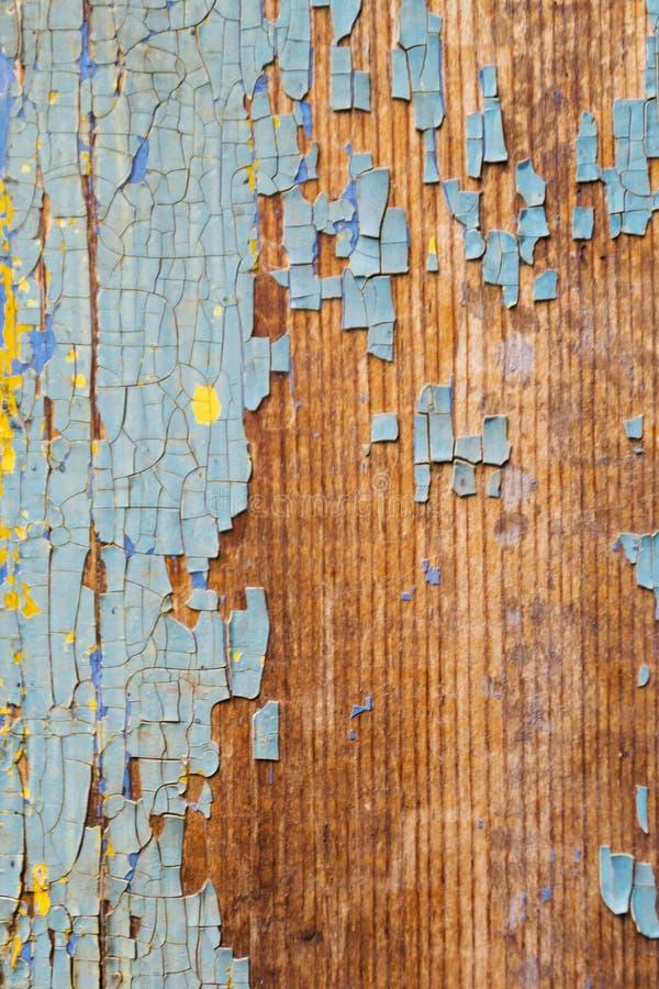La vecchia parete di legno arrugginita ha dipinto blu Struttura dettagliata della foto immagine stock