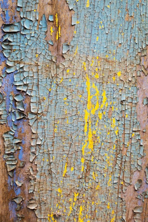 La vecchia parete di legno arrugginita ha dipinto blu Struttura dettagliata della foto fotografia stock libera da diritti