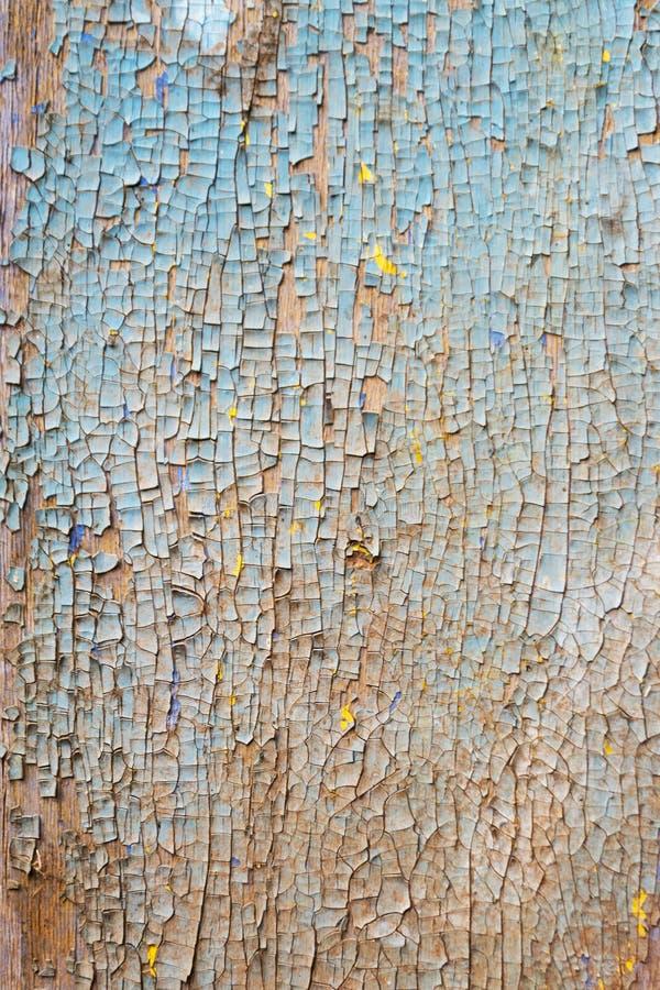 La vecchia parete di legno arrugginita ha dipinto blu Struttura dettagliata della foto immagine stock libera da diritti