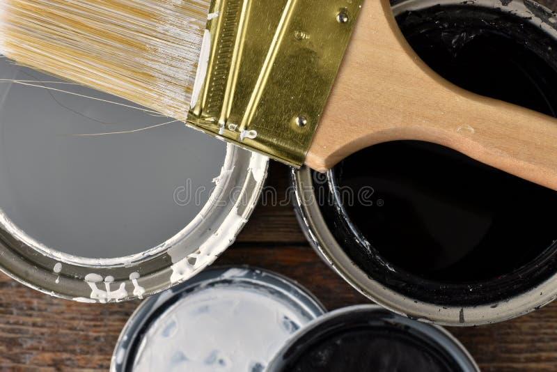 La vecchia pittura può coperchi fotografie stock libere da diritti