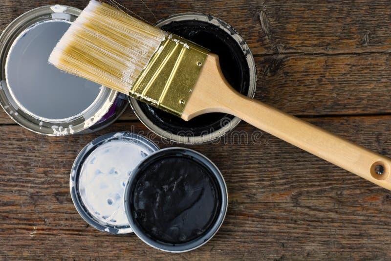 La vecchia pittura può coperchi immagini stock libere da diritti