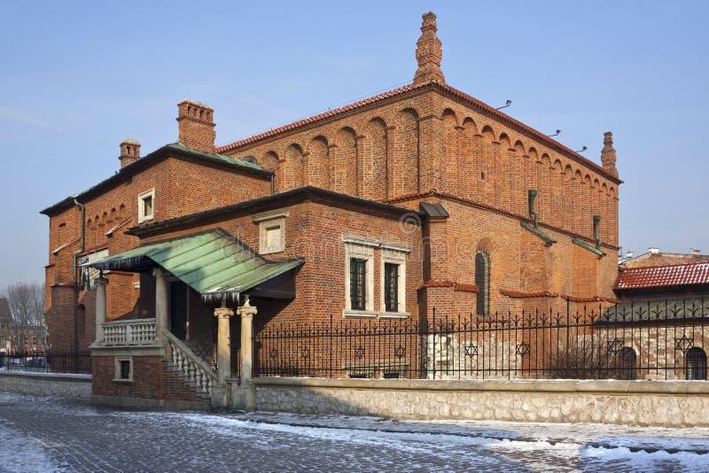 La vecchia sinagoga - Cracovia - Polonia fotografie stock