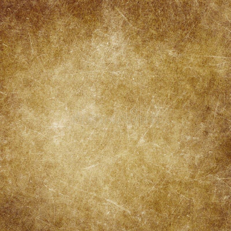 La vecchia struttura della carta marrone di lerciume, macchie, graffia royalty illustrazione gratis