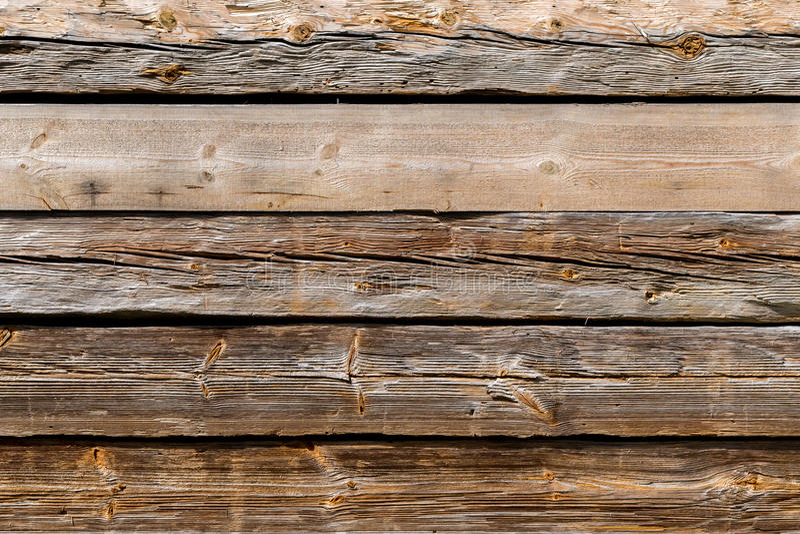 La vecchia struttura di legno con i modelli naturali fotografia stock