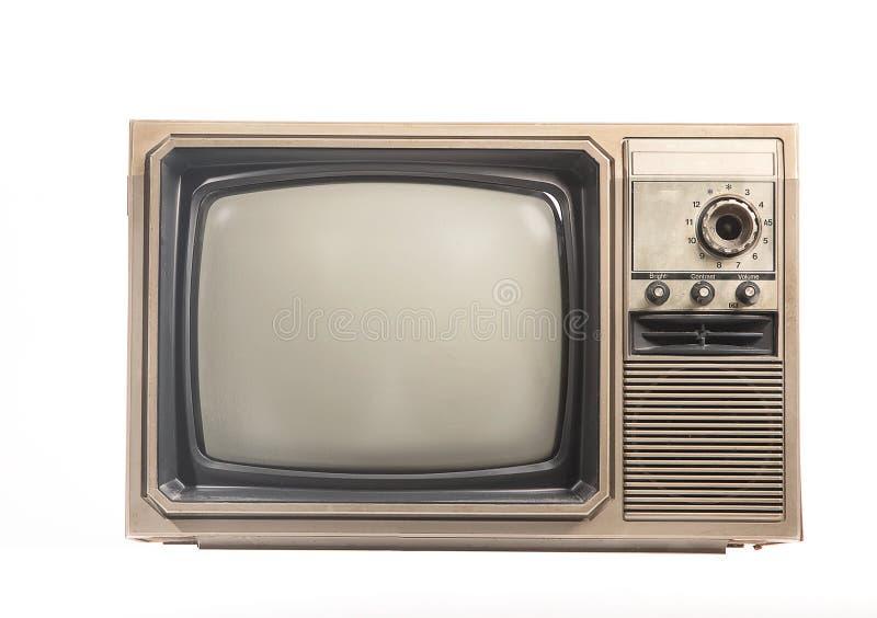 La vecchia TV sul isolata fotografia stock