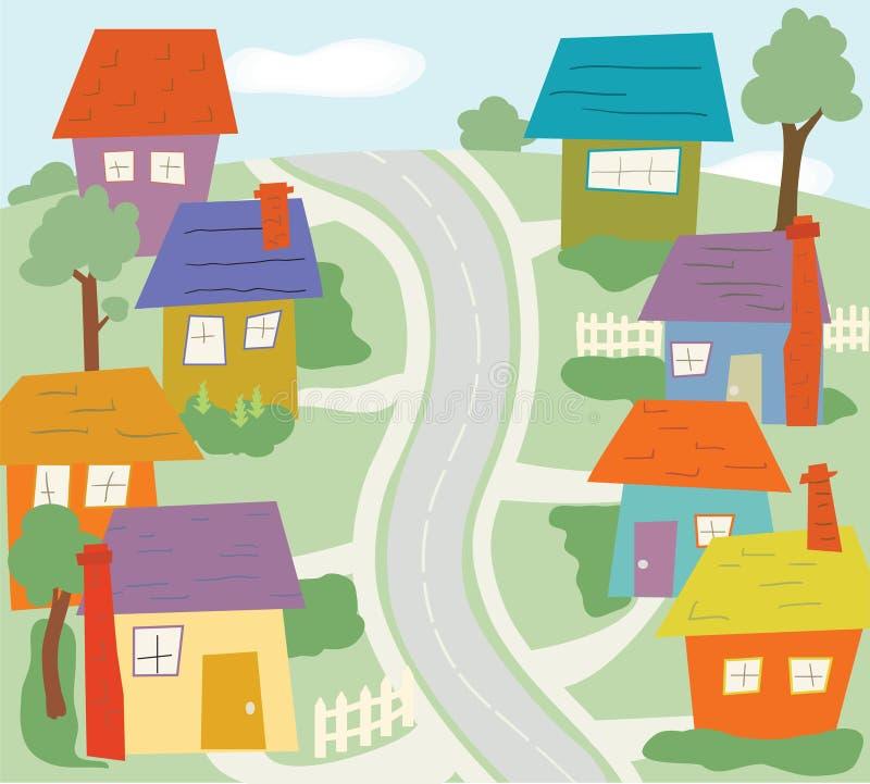 La vecindad ilustración del vector