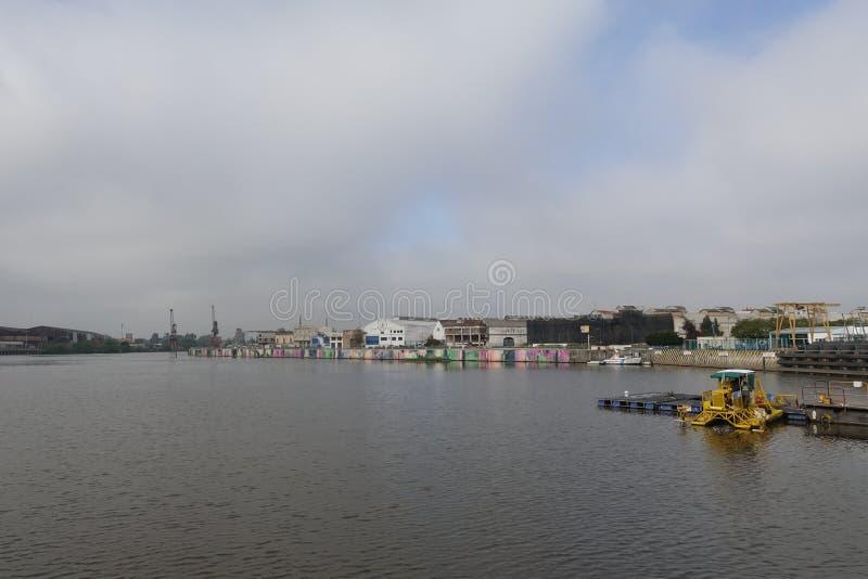 La vecindad colorida de Boca del La en Buenos Aires imagenes de archivo