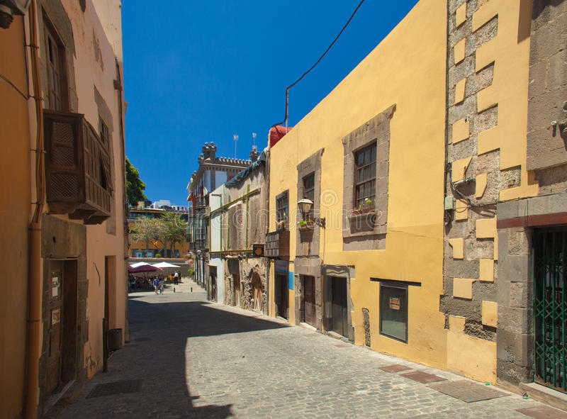 La Vegueta. Old town part in Las Palmas de Gran Canaria royalty free stock image