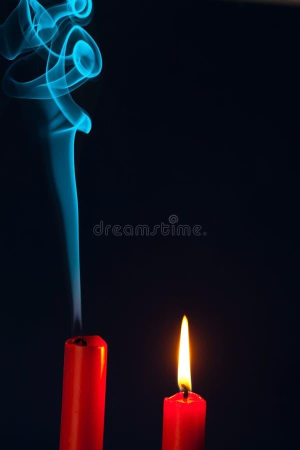 La vela estaba soplada hacia fuera fotos de archivo libres de regalías