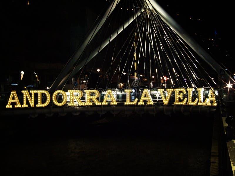 La Vella van Andorra stock afbeelding