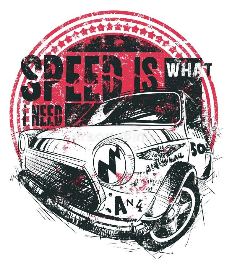 La velocità è di che cosa ho bisogno illustrazione vettoriale