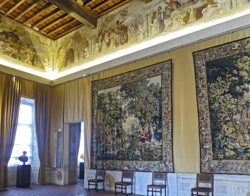 La Venaria Reale, Reggia: Rum av Ifigenia fotografering för bildbyråer