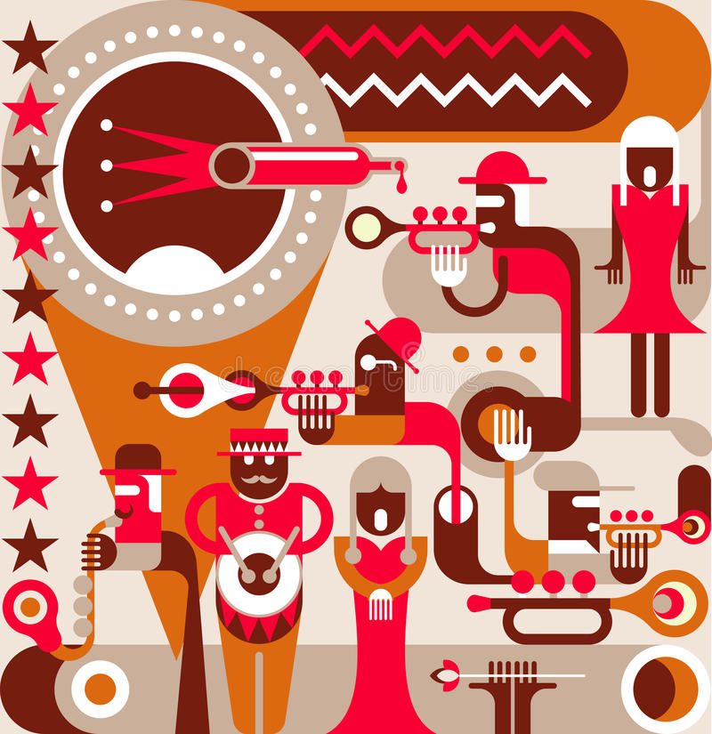 La venda de jazz libre illustration