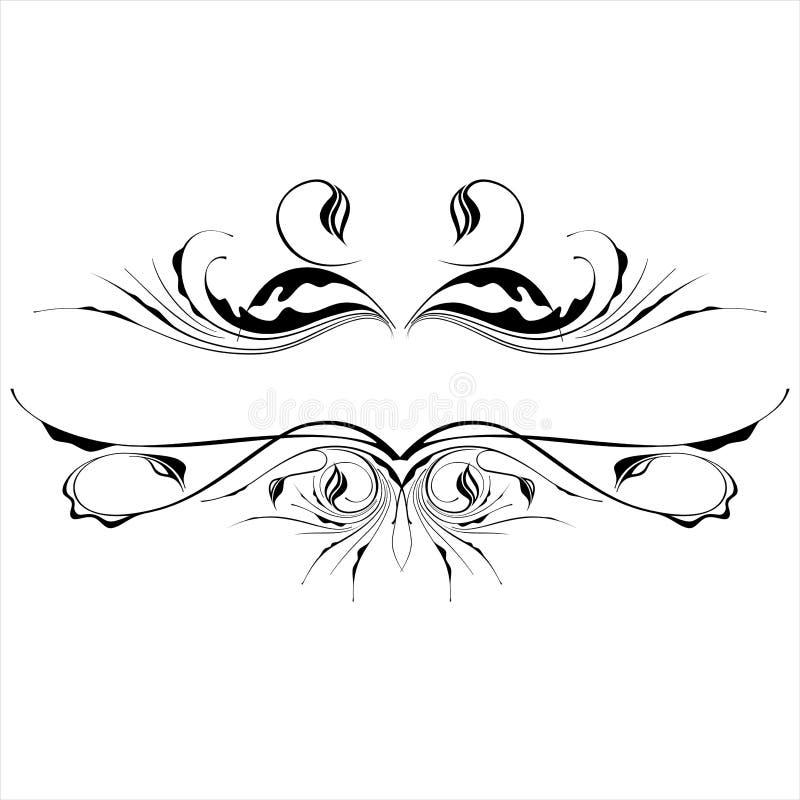 La vendimia de B&w florece el ornamento ilustración del vector