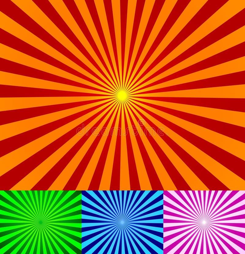 La vendimia del vector irradia el fondo ilustración del vector
