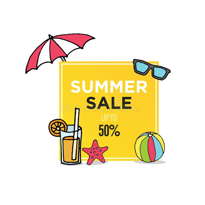 La vendita dell'estate prestabilisce l'insegna del modello royalty illustrazione gratis