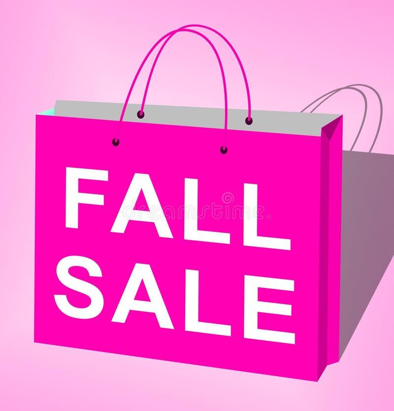 La vendita di caduta visualizza la rappresentazione di Autumn Commerce Sales 3d illustrazione vettoriale