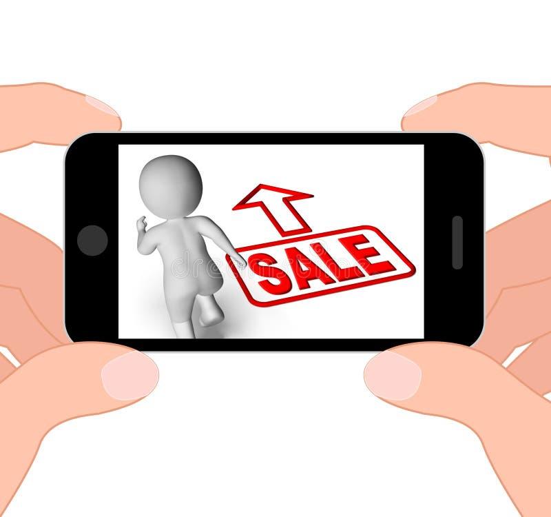 La vendita e le esposizioni di carattere correnti 3D affrettano la promozione di risparmi illustrazione vettoriale