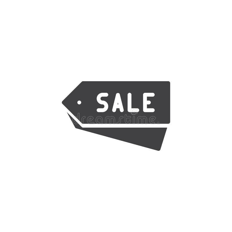 La vendita etichetta l'icona di vettore illustrazione vettoriale