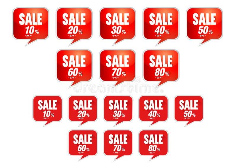 La vendita etichetta la pallottola di sconto illustrazione di stock
