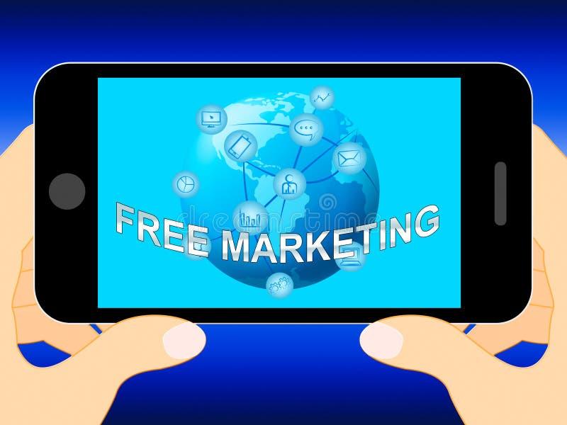 La vendita libera rappresenta l'illustrazione di affari EMarketing 3d illustrazione vettoriale