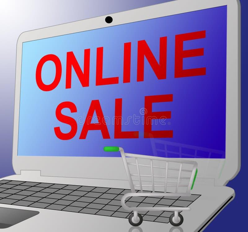 La vendita online significa che il web sconta l'illustrazione 3d illustrazione vettoriale