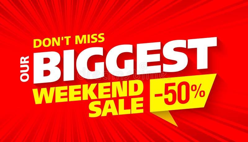 La venta de fin de semana más grande ilustración del vector