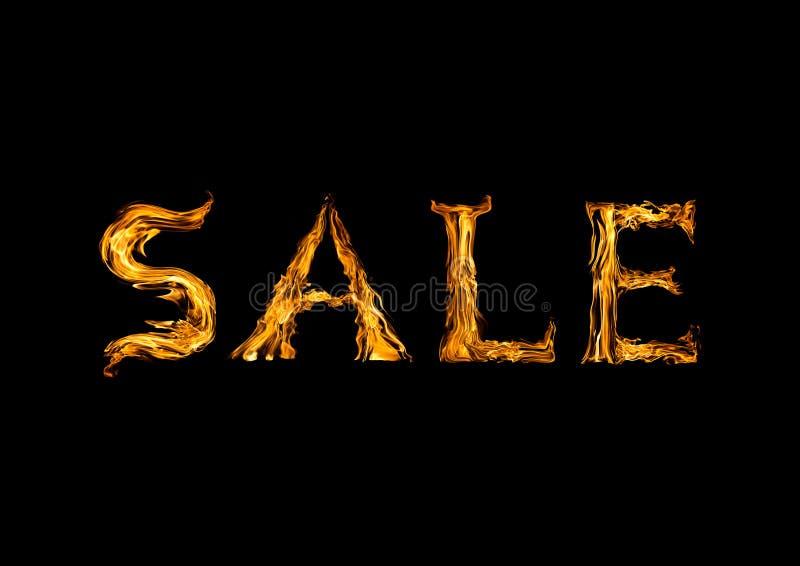 La venta de la palabra de las llamas imagenes de archivo