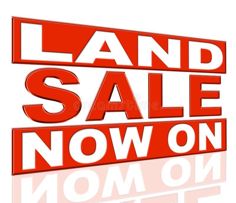 La venta de la tierra indica en el momento y liquidación libre illustration