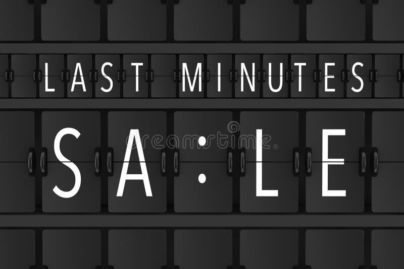 La venta de los minutos del último firma encima a Flip Scoreboard Airport Panel 3d con referencia a stock de ilustración