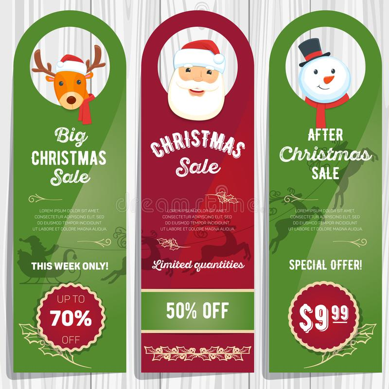 La venta de la Navidad carda 01 ilustración del vector