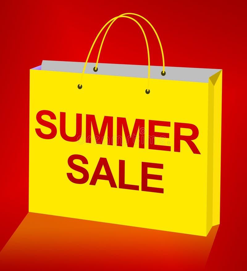 La venta del verano exhibe el ejemplo de las ofertas 3d del negocio libre illustration