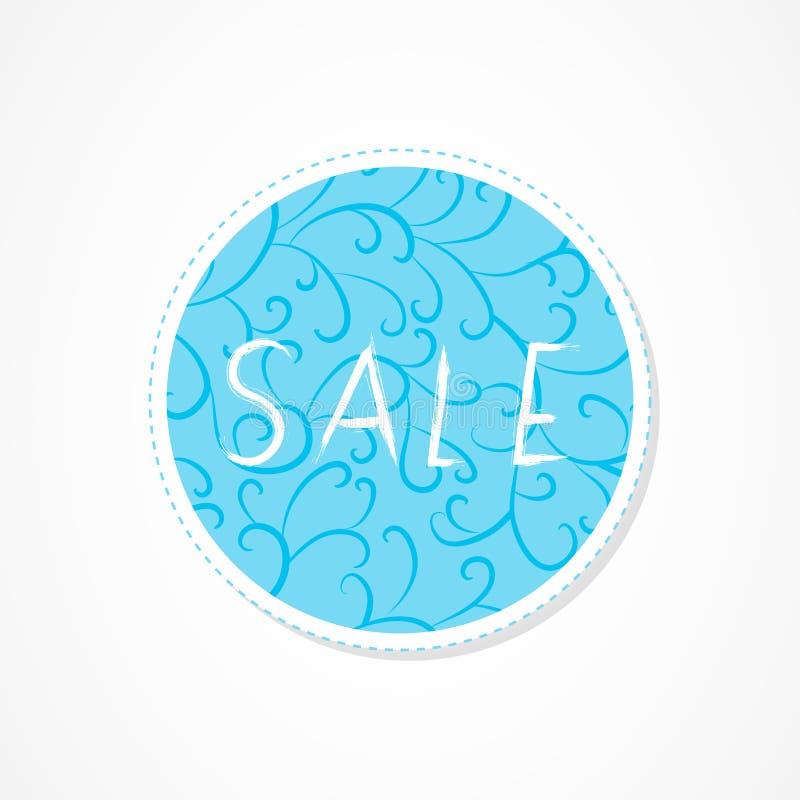 La venta, venta grande, para usted, venta estupenda, descuenta la inscripción en fondos redondos decorativos con el modelo abstra libre illustration