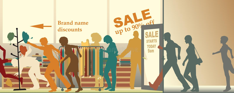 La venta se abre stock de ilustración