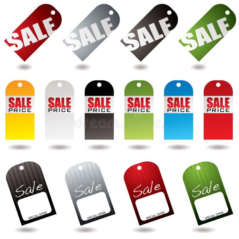 La vente étiquette le ramassage illustration stock