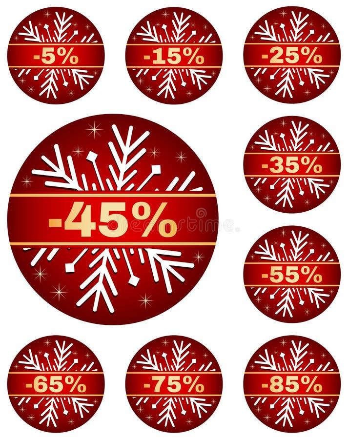 La vente d'hiver étiquette 2 illustration stock