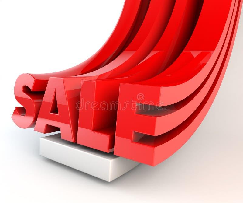 la VENTE 3D marque avec des lettres le rouge de promotion illustration de vecteur