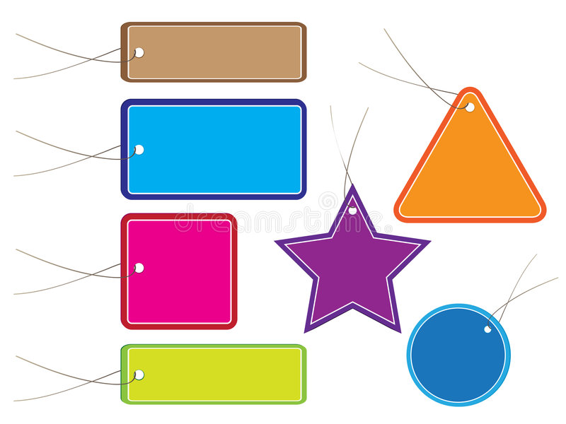 la vente lustrée étiquette divers illustration libre de droits
