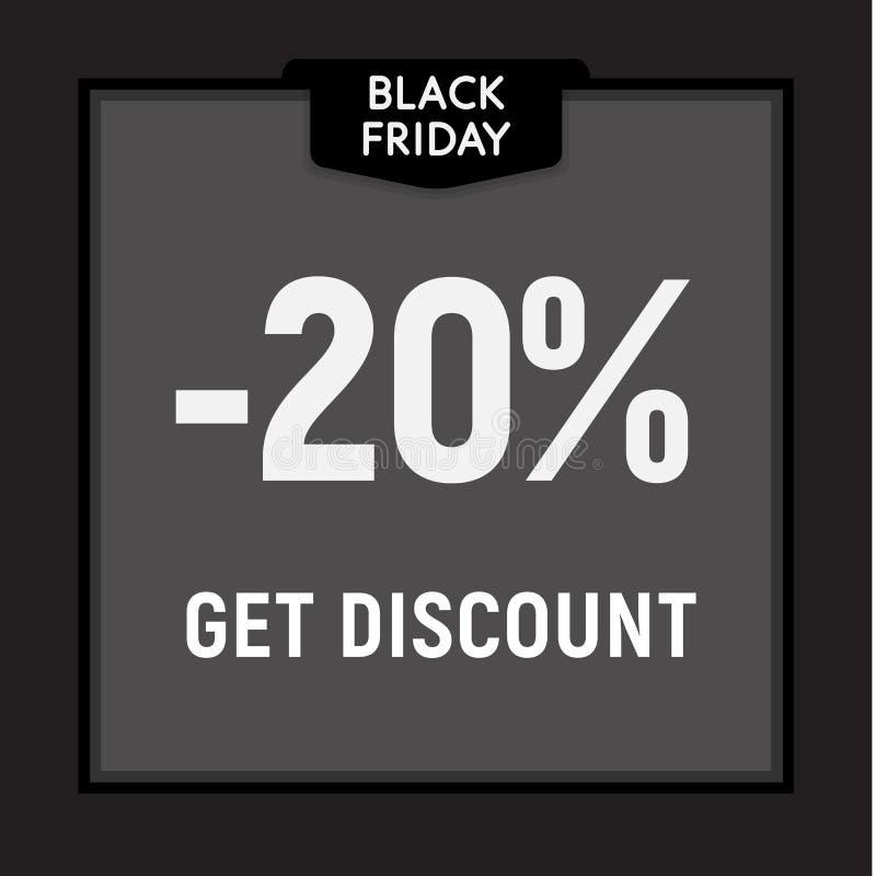 La vente noire de vendredi, offre limitée, obtiennent le bouton de Web de remise Affiche de vecteur illustration de vecteur