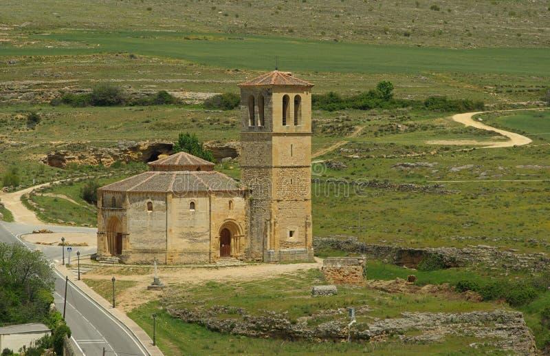 La Vera Cruz della chiesa di Segovia fotografia stock libera da diritti