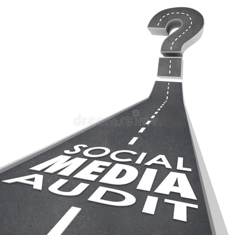 La verifica sociale di media esprime la campagna della misura del monitor della strada efficace illustrazione vettoriale