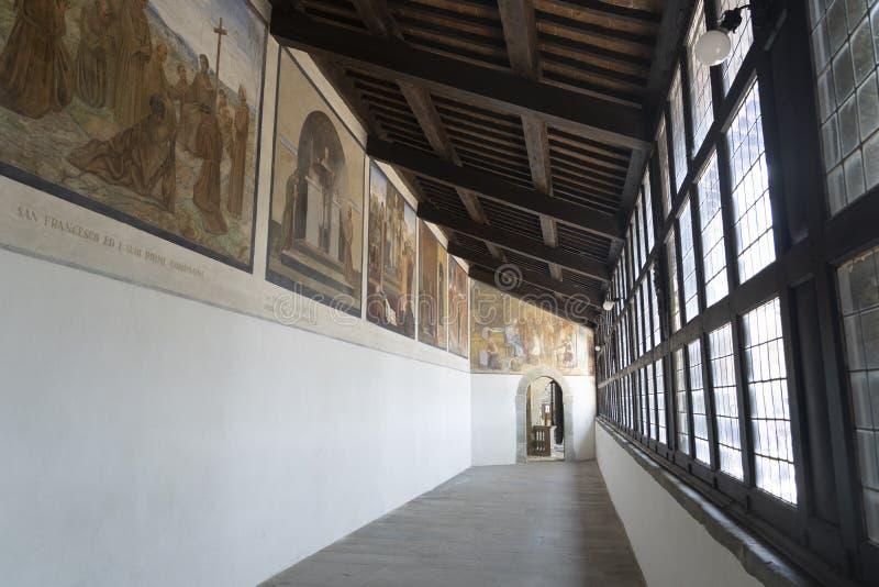 La Verna, medeltida kloster i provinsen Arezzo royaltyfri bild